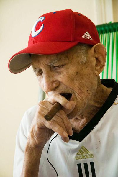 Conrado Marrero at his home in Cuba