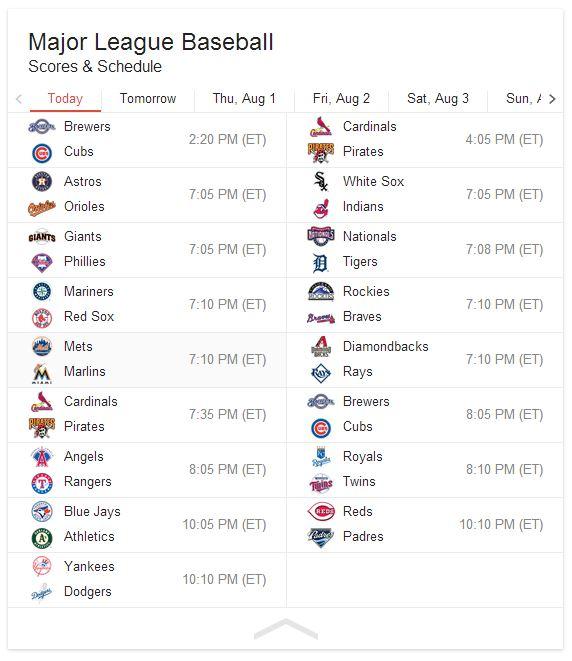 July 30 - Schedule